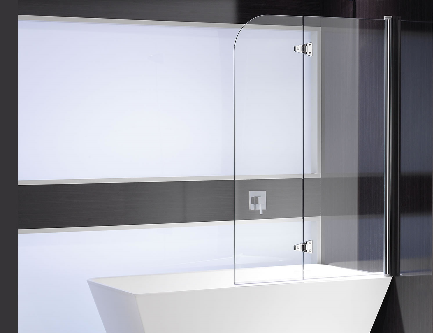 BATHSCREEN CURVED DOUBLE PANEL